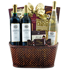 3-Bottle Beringer Wine Gift Basket