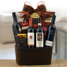 Continental Reds Wine Gift Basket