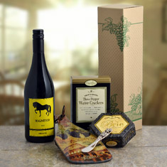 Cutting Edge Wine & Cheese Gift Basket
