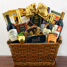Giant Statement Wine & Champagne Gift Basket
