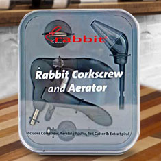Rabbit Corkscrew & Aerator Gift Set
