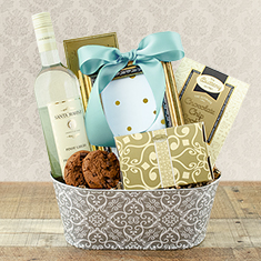 Someone Special White Wine Gift Basket