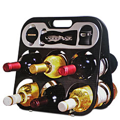 Metrokane Wine Bar & Accessories Gift Set