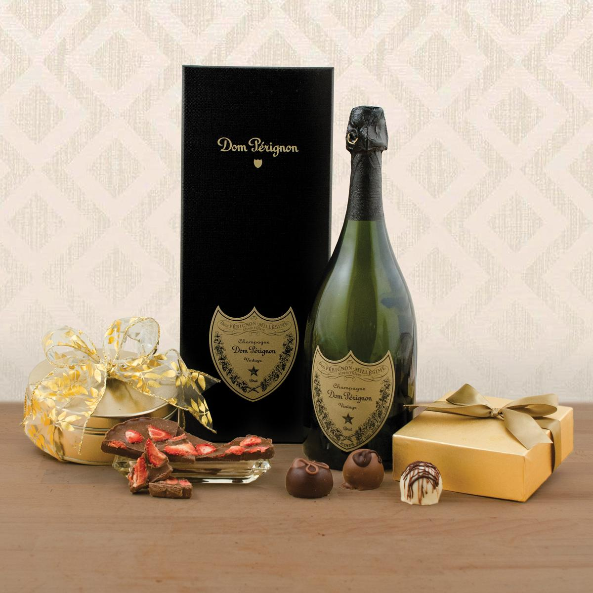 Dom Perignon and Truffles Gift Basket