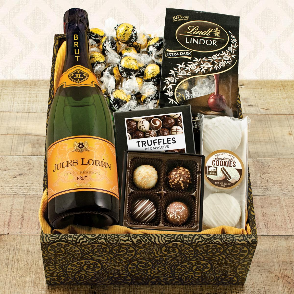 Champagne, Truffles and Chocolates Gift Box