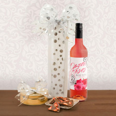 For You, Rosé & Strawberries Gift Basket